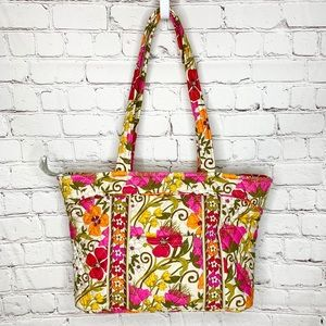 Vera Bradley Tea Garden Party Floral Tote Purse